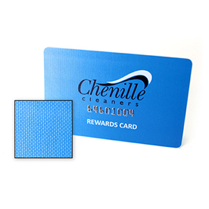 canvas business card and gift card finish