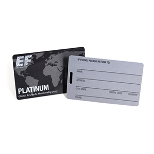 Matte business cards with writable surface