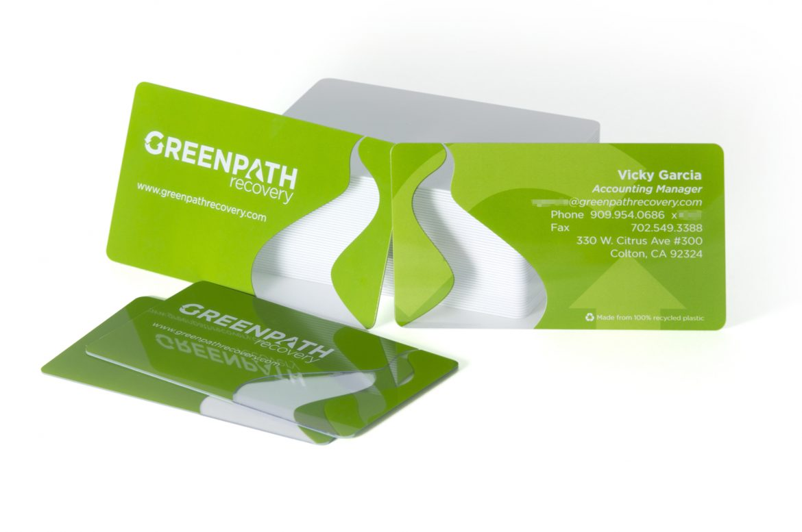 HOW GREENPATH RECOVERY USED PLASTIC BUSINESS CARDS TO BOOST THEIR BRAND