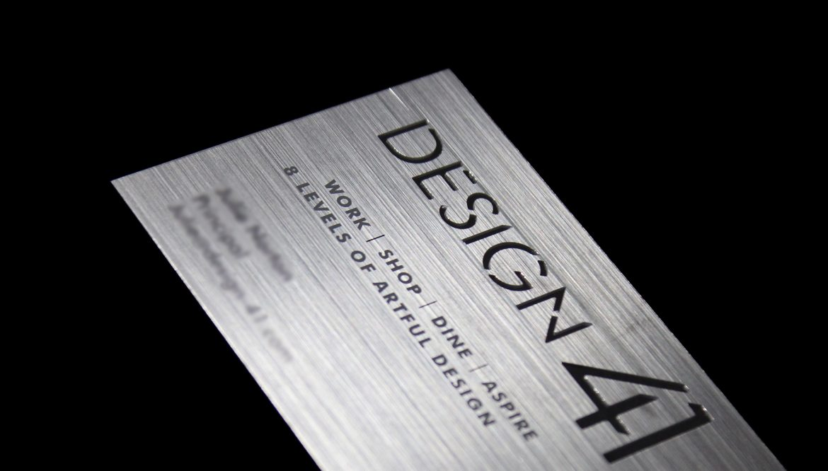 DESIGN 41: DIE CUT PLASTIC BUSINESS CARDS WITH MIAMI STYLE