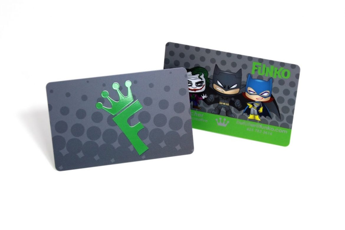 FUNKO'S FUNKY SPOT UV BUSINESS CARDS